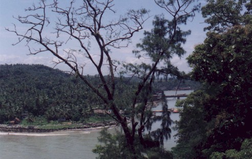 Mahe river - View from Light house